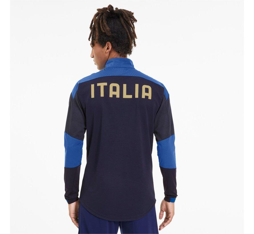 Italia 1/4 Zip Top Navy Euro21
