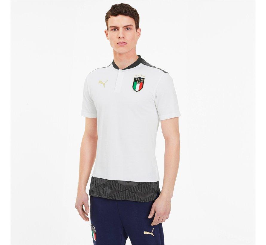 Italia Casuals Polo White/Gold Euro21