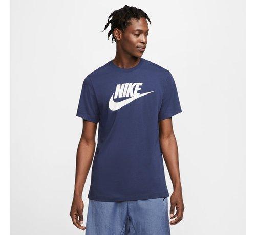 Nike Nsw Tee Icon Futura Navy-white