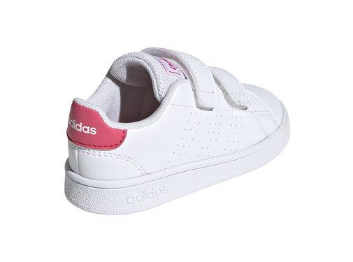 Adidas Advantage White/Pink Baby