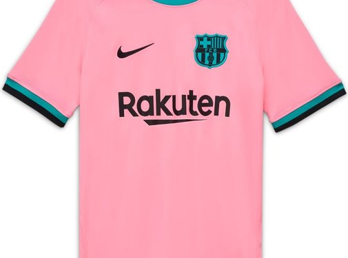 Nike Barcelona Brt Stad Jsy 3R Jr Pink 20/21