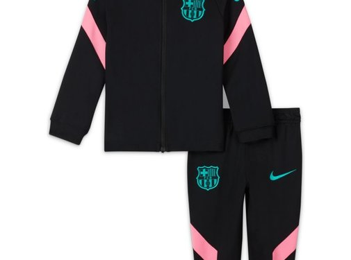 Nike FC Barcelona Tracksuit Black/Green Baby