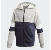 Adidas Colorblock FZ Hoodie Grey