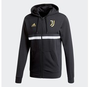 Adidas Juventus 3S Fullzip Hoodie Black
