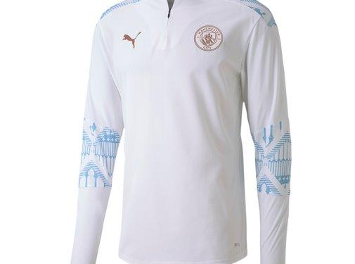 Puma Manchester City 1/4 Zip Top White 20/21