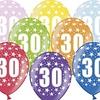 Ballonnen 30 jaar - metallic gekleurd met sterren