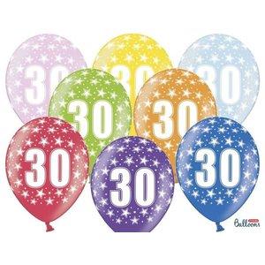PartyDeco Ballonnen 30 - sterren