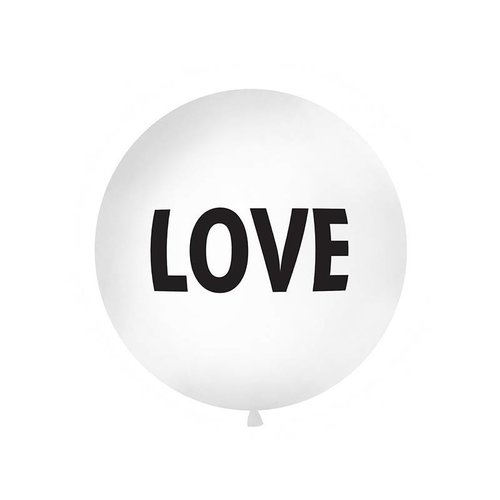 PartyDeco Reuzeballon LOVE - 1 meter