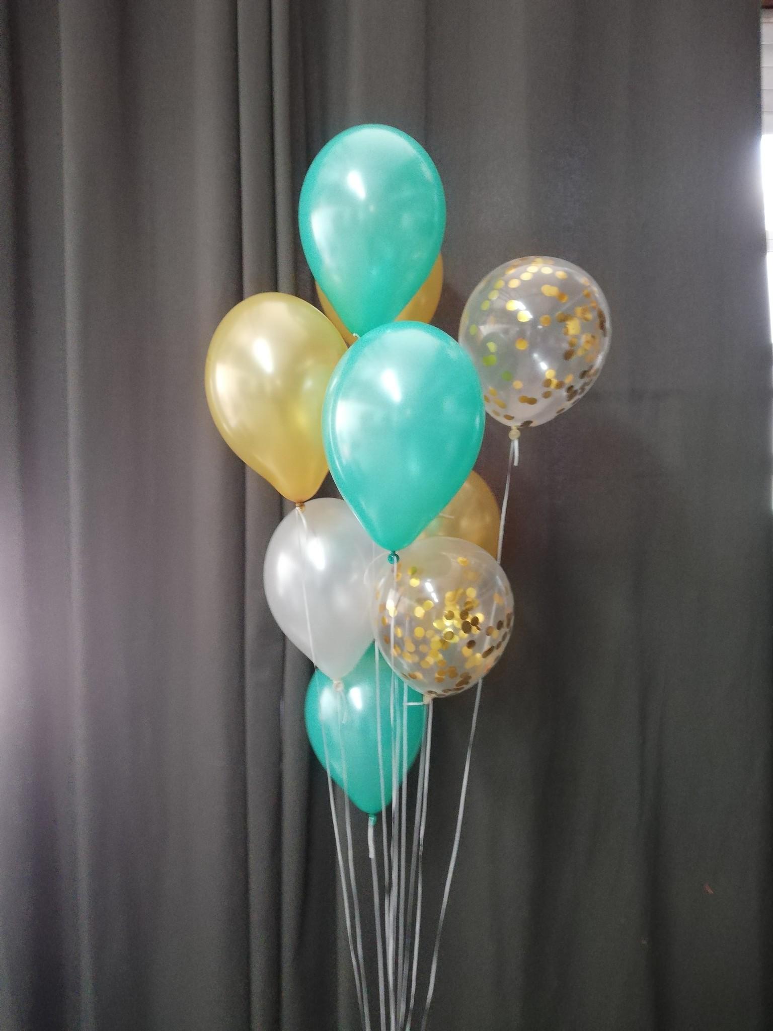 Vloerdecoratie 10 helium ballonnen