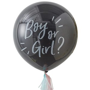 Ginger Ray Gender Reveal Ballon - Boy or Girl? inclusief helium