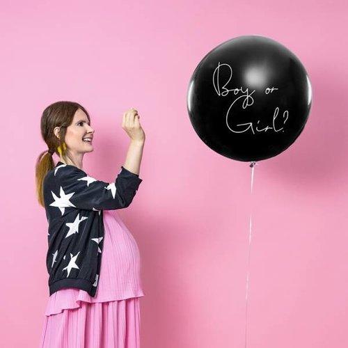 PartyDeco Gender Reveal ballon - Boy or girl?