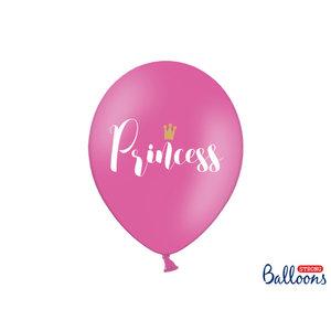PartyDeco Ballonnen 30cm, Princess, Pastel Hot pink - 6 stuks