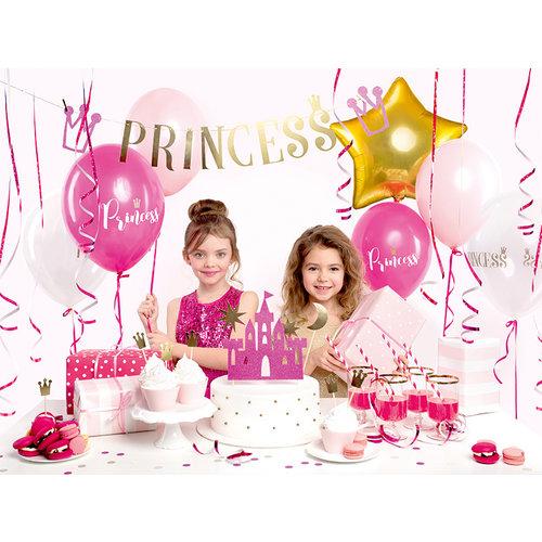 PartyDeco Ballonnen 30cm, Princess, Pastel Hot Pink 6 stuks