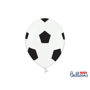 PartyDeco Voetbal ballonnen 30 cm