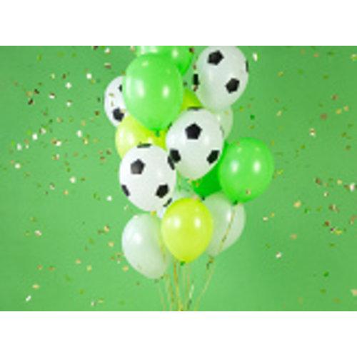 PartyDeco Voetbal ballonnen 30 cm 6 stuks