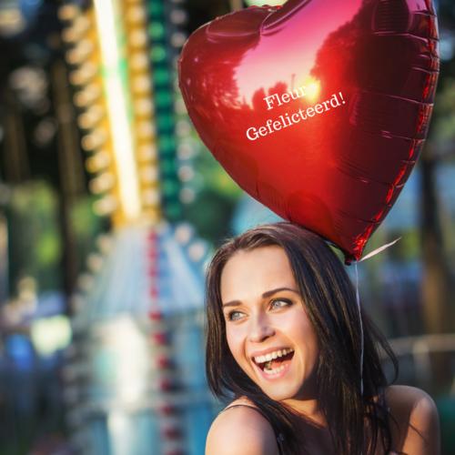 Ballonnendeal Reuzeballon folie | 80 cm met helium en gewichtje