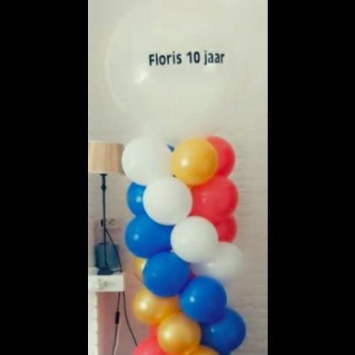 Ballonnenpilaar met tekst / naam