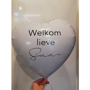 Ballonnendeal Folieballon | Welkom lieve.... - incl. gewichtje
