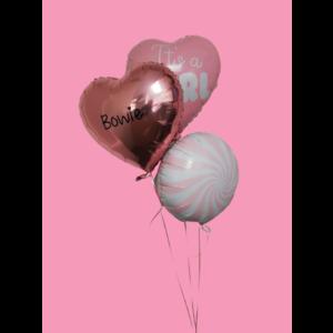 Ballonnendeal Ballonnentros geboorte meisje met NAAM - It's a girl