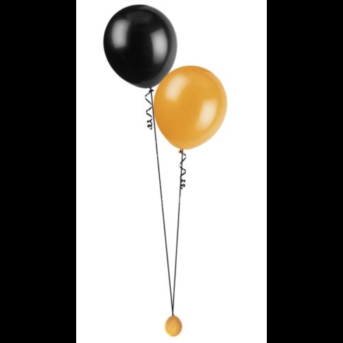 Tafeldecoratie met 2 ballonnen