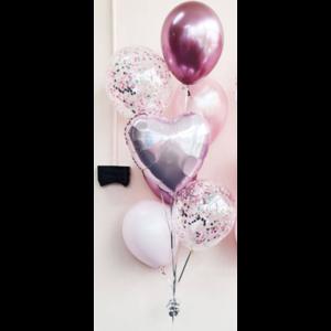 Ballonnendeal Ballonnentros Bruiloft met namen - 7 ballonnen