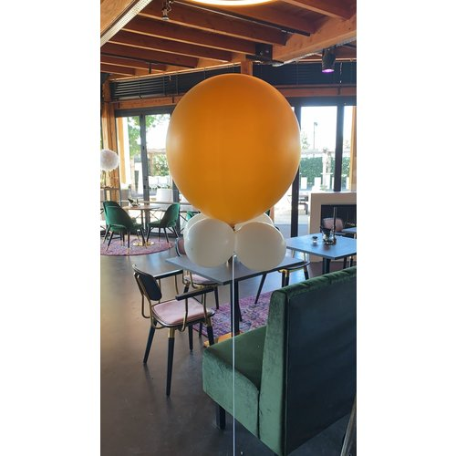 Ballonnendeal Reuzeballon met miniballonnen met helium 80-100 cm