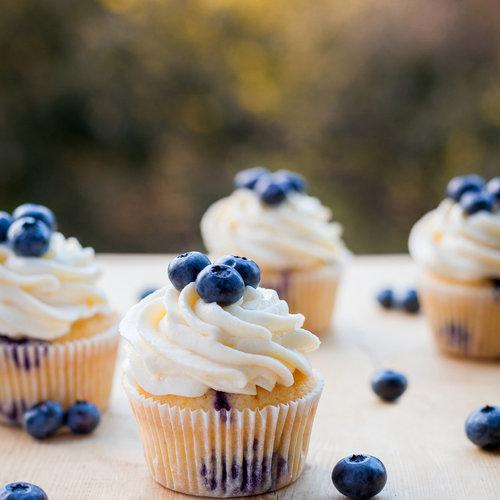 Blauwe bosbessen muffins