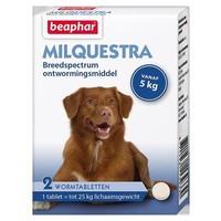 Milquestra wormtabletten hond 5+ Kg 2 tabletten