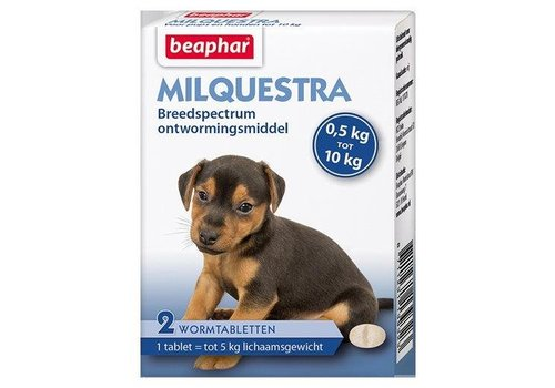 Milquestra pup/kleine hond 0,5-10kg (2 tabletten)