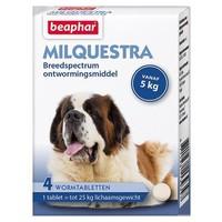 Milquestra wormtabletten hond 5+ Kg 4 tabletten