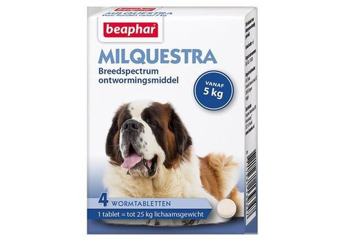 Beaphar Milquestra Dog 5+kg - 4 Tablets
