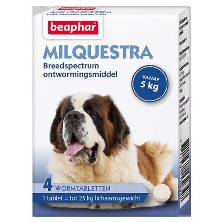 Milquestra wormtabletten hond 5+ Kg 4 tabletten-1