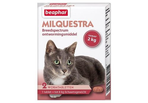 Milquestra wormtabletten kat - 2 st