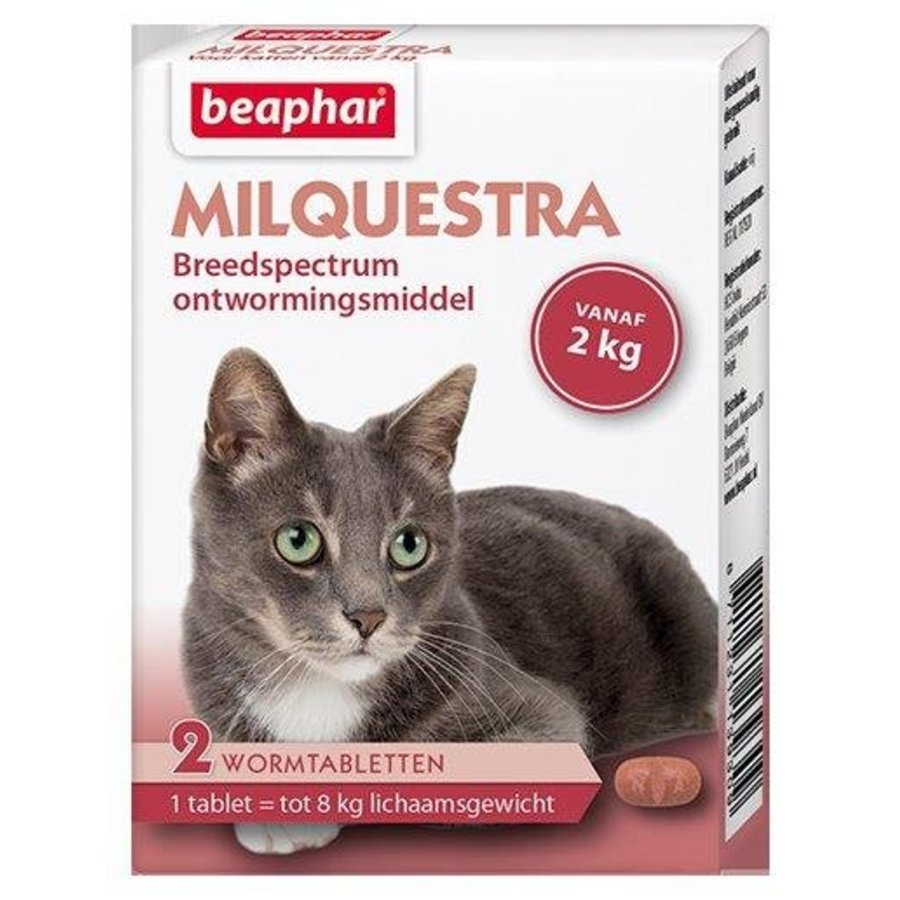 Milquestra worm tablets cat - 2 pcs-1