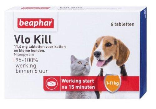 Vlokill+ kat en hond tot 11kg - 6st
