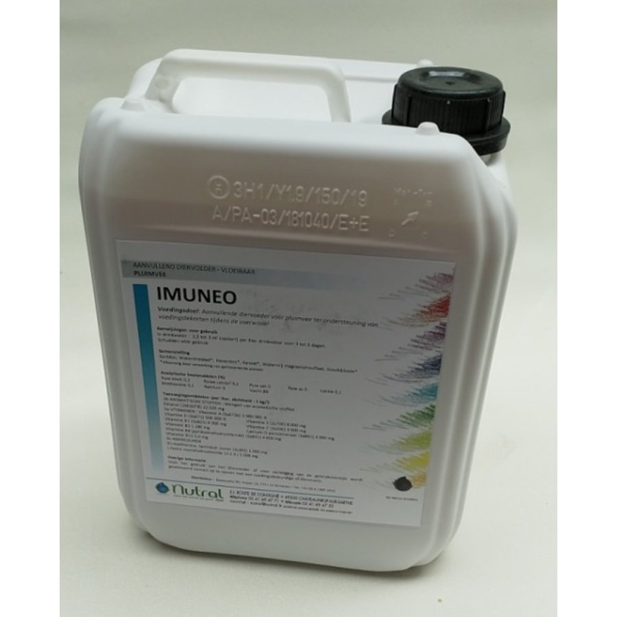 IMUNEO 5 liters increases the resistance of poultry and is supported by vaccinations.-1