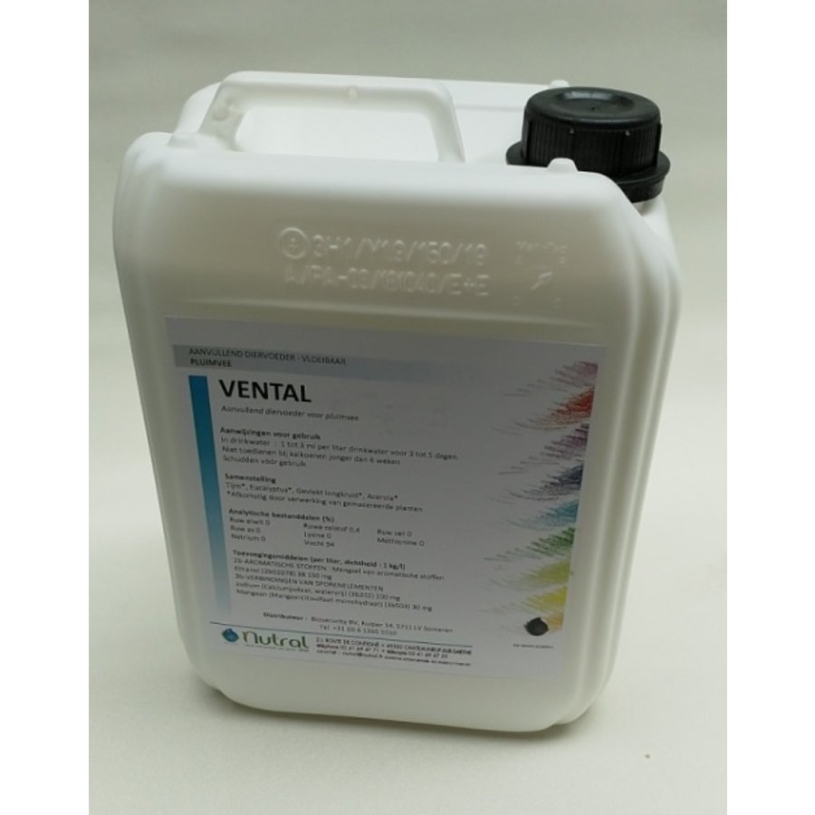 VENTAL 5 liters - helps mucous drainage and supports breathing in poultry-1