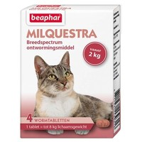 Milquestra wormtabletten kat - 4 st