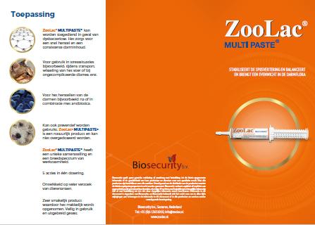 Zoolac Multipaste brochure NL