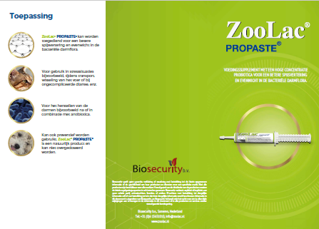 Zoolac Propaste brochure NL