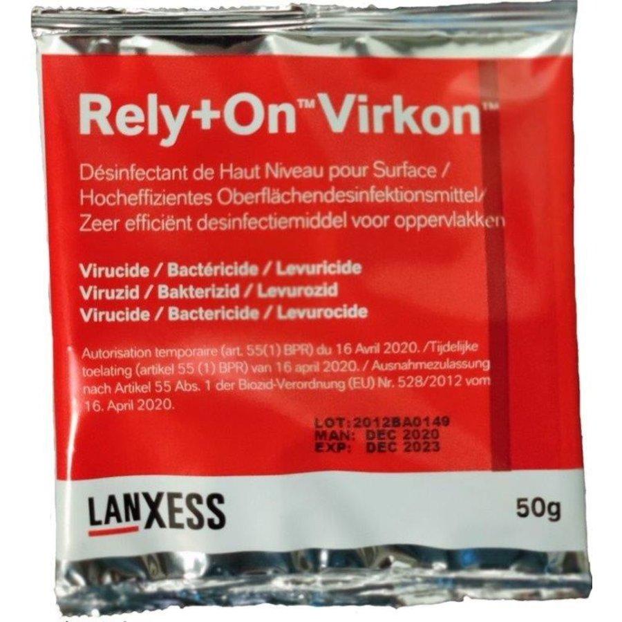 Rely+On™ Virkon™ 50 gram sachet Zeer efficiënt desinfectiemiddel voor oppervlakken-1