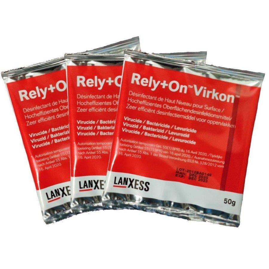 Rely+On™ Virkon™ 50 gram sachet Zeer efficiënt desinfectiemiddel voor oppervlakken-2