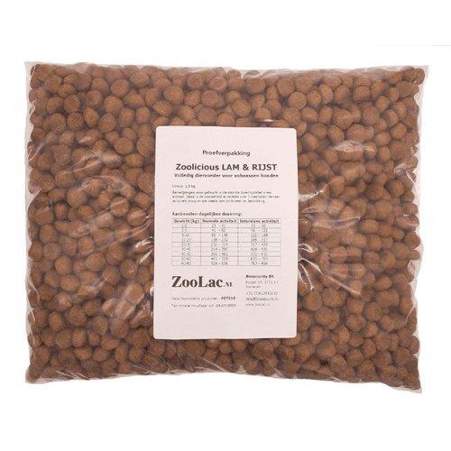 Zoolicious Lam & Rijst 1,5 kg - proefverpakking