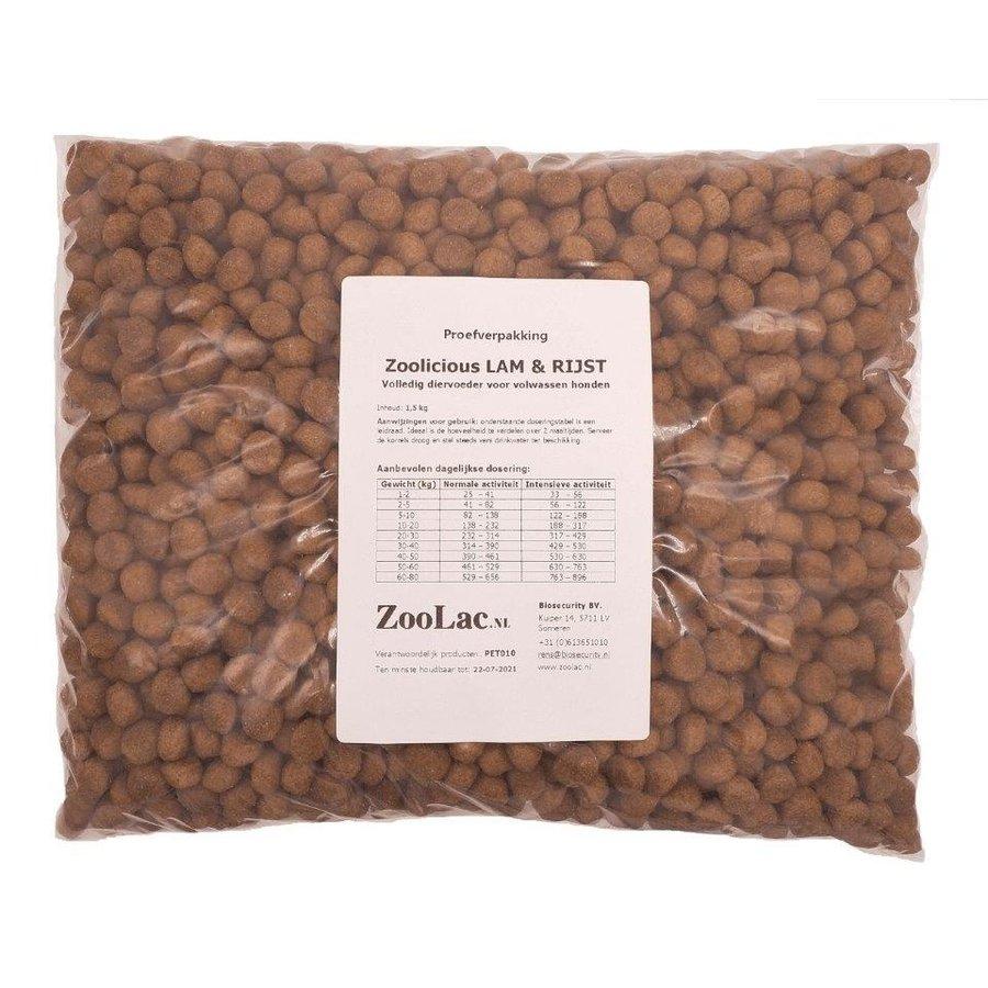 Zoolicious Lam & Rijst 1,5 kg - proefverpakking-1