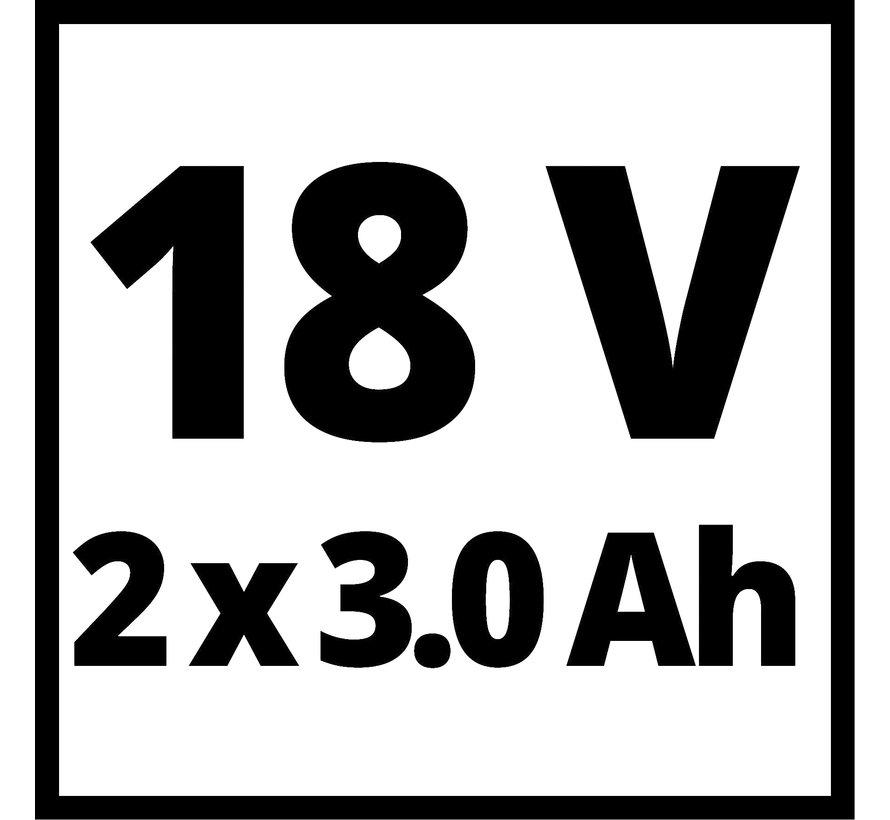 Einhell Starterkit 18V 2xAccu 3,0AH + DUO-Lader SET