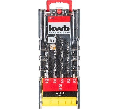 KWB 5-delige Houtboren set 109135