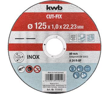 Doorslijpschijf 125 x 1,0 x 22,23 mm CUT-FIX® INOX