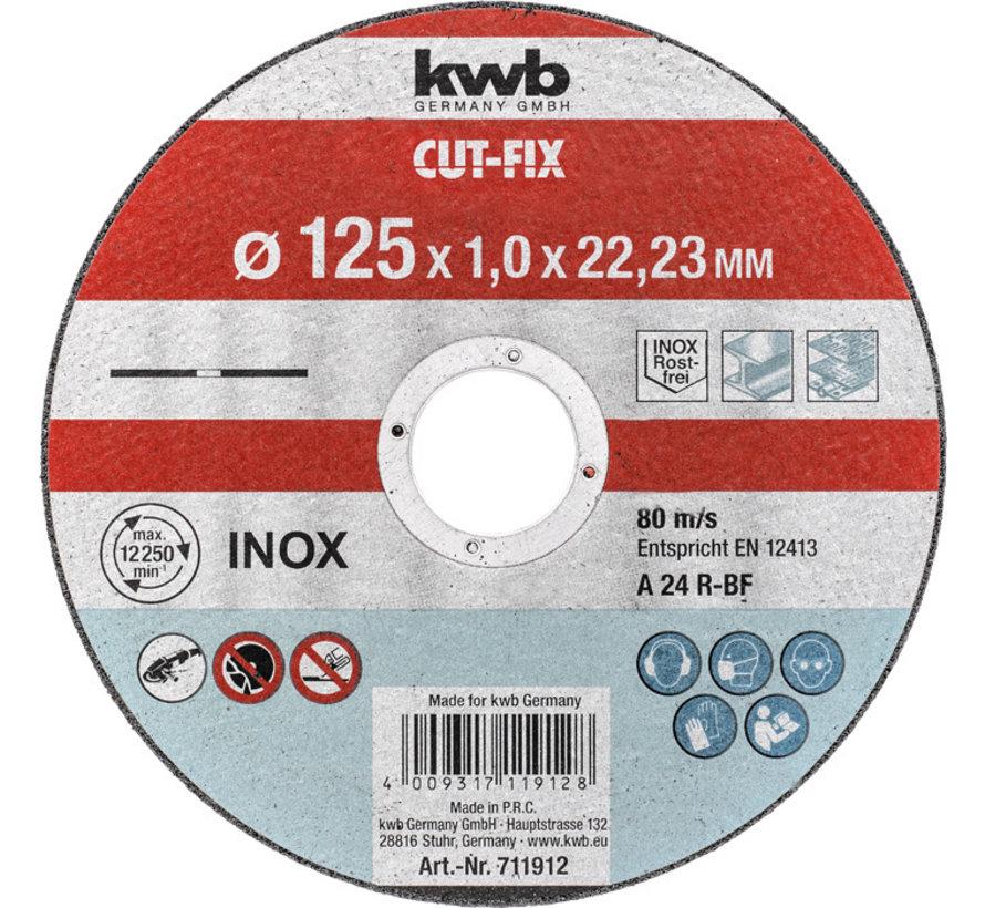 KWB Doorslijpschijf 125 x 1,0 x 22,23 mm CUT-FIX® INOX