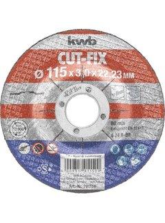 Doorslijpschijf 115 x 3,0 x 22,23 mm CUT-FIX® STAAL