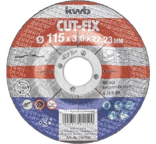 KWB Doorslijpschijf 115 x 3,0 x 22,23 mm CUT-FIX® STAAL